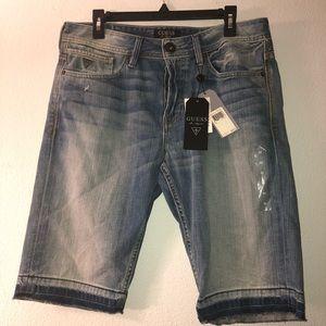 Men's guess jeans shorts size 33 waist brand new